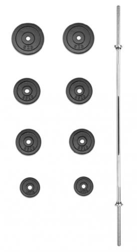 Nakládací činka TRINFIT PREMIUM XL kovová 30 kg