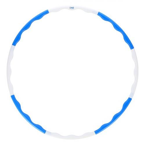 Hula-hop obruč ONE Fitness HHP090 modro-bílá 90 cm